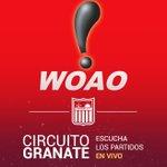 #Radio 📻 ¡Hoy podrás escuchar el compromiso a través del #CircuitoFMGranate por la señal de @Woao88unofm! ⚽ https://t.co/lZa7OuS52i