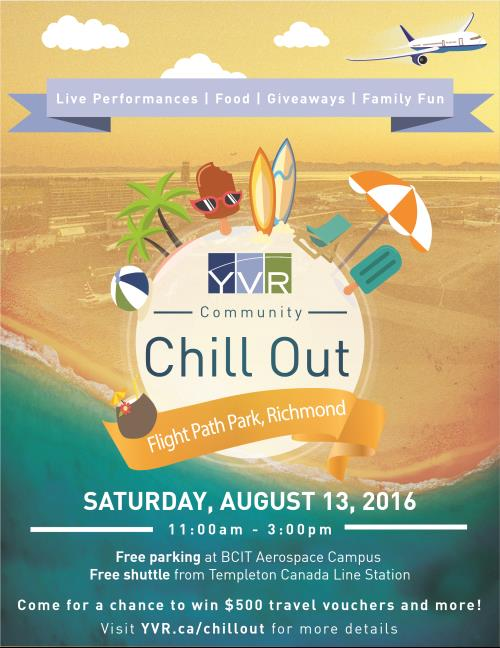 Join us at Flight Path Park on August 13 for YVR Community Chill Out Day!