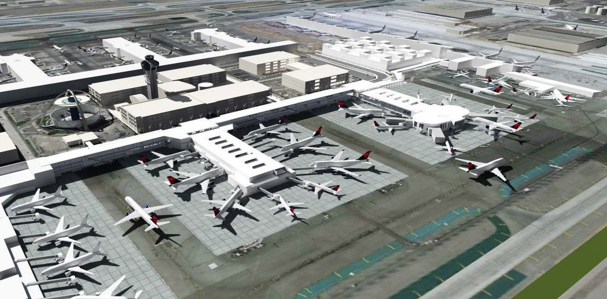 .@Delta  & @flyLAXairport move forward w/ $1.9B plan to upgrade & connect terminals 2 & 3.