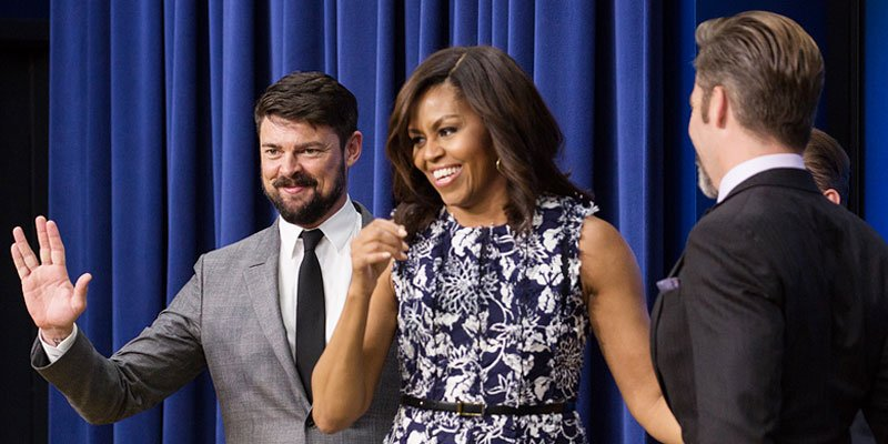 Michelle Obama screens new StarTrek movie—and ogles 'handsome' stars—with military families