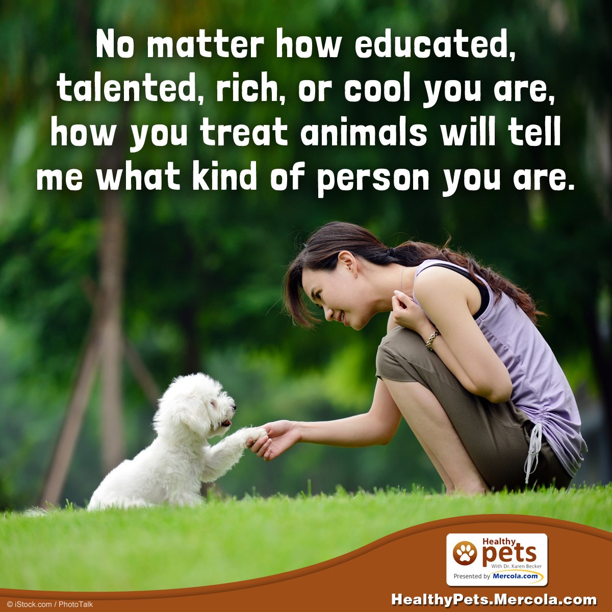 ...how you treat animals will tell me what kind of person you are. https://t.co/PjJiiBSFeZ