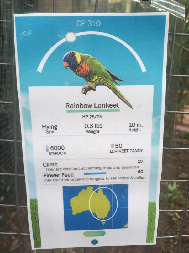 米国のバーミンガム動物園が『ポケモンGO』に触発されて作った解説板 boredpanda.com/z…