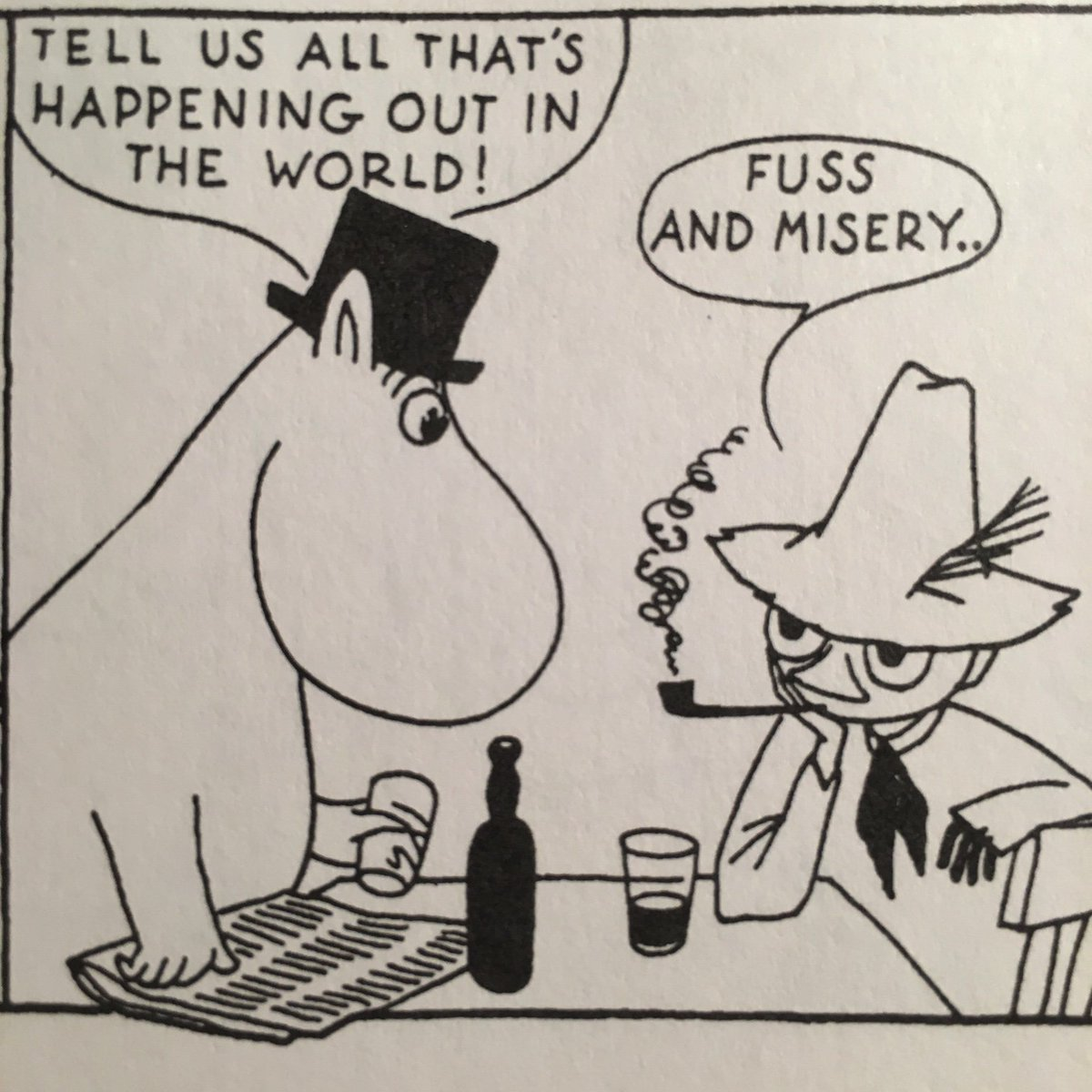 I would rather read Moomin than the news. https://t.co/C7pNvOQkvE