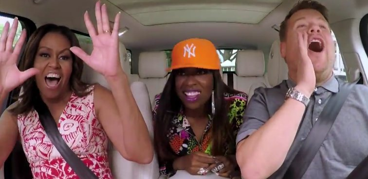 HOLLA! Michelle Obama just got her Carpool Karaoke on with Missy Elliot: