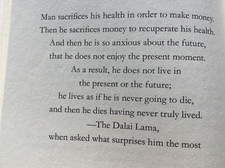 A man with a lot of sense. Worth a ponder and then maybe some action/changes #DalaiLama https://t.co/03ePEVYju5