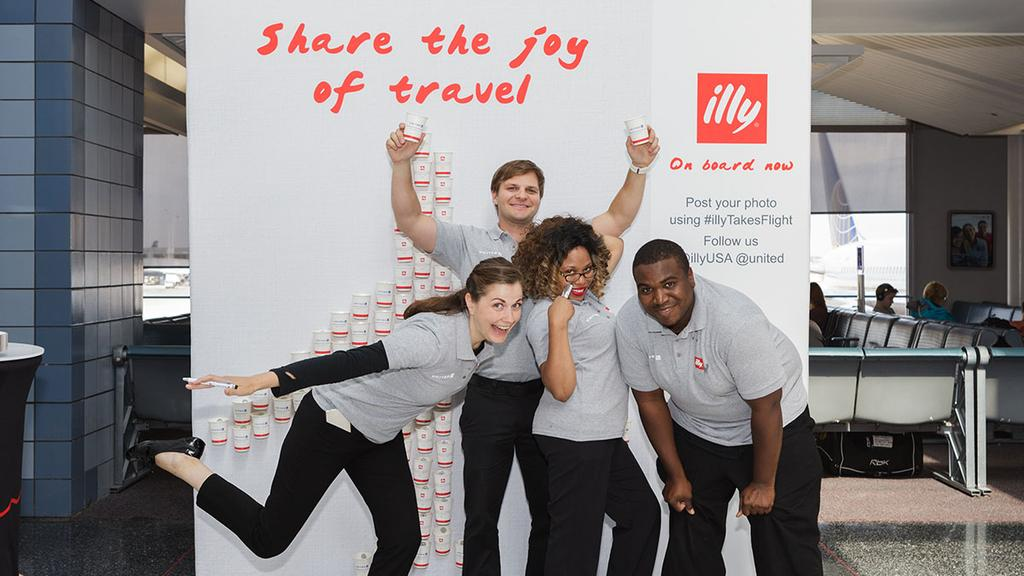 Spotted an @illyUSA tasting yet? Look for us all month at select airports!