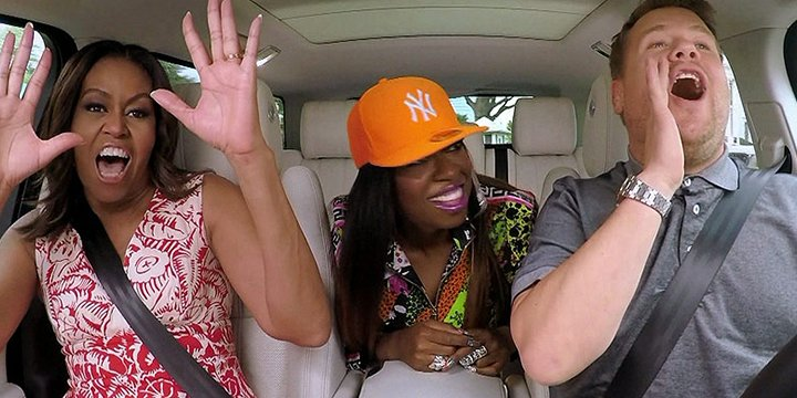 CarpoolKaraoke: Michelle Obama raps 'Get Ur Freak On' with James Corden and Missy Elliott