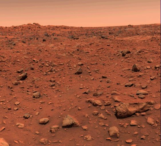 First color image of Mars, taken July 21, 1976-- day after Viking l's landing on the Red Planet. #Viking40 #TBT https://t.co/AszbnC8Y83