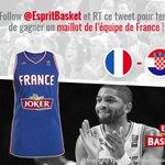 A loccasion du match Croatie - France, tentez de gagner un maillot des Bleus : Follow+RT ce tweet! #CROFRA 🇭🇷 - 🇫🇷 https://t.co/Mol8H7CCCU