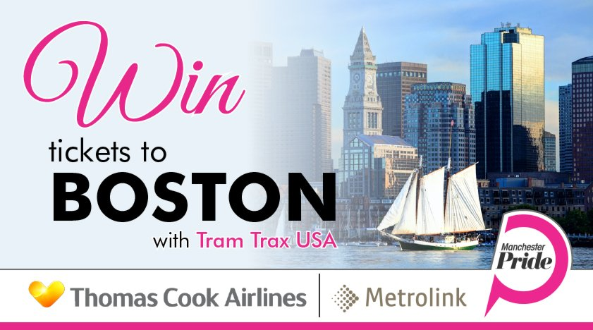 WIN tickets to Boston with Tram Trax USA! To enter simply visit our website: