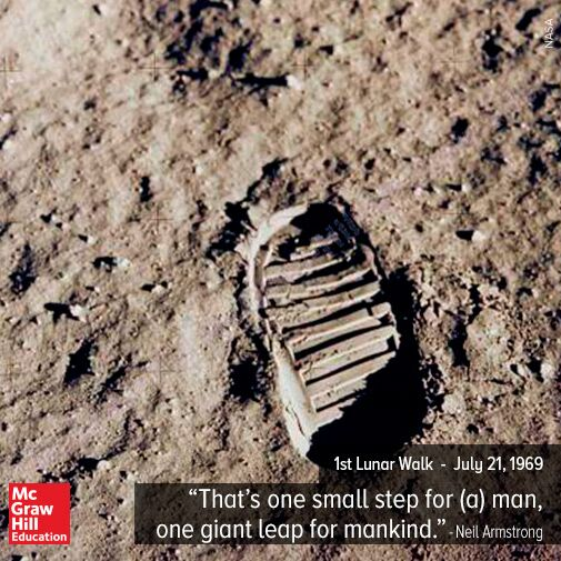 47 years ago today, Neil Armstrong and Buzz Aldrin become the first to walk on the moon. https://t.co/Oe5AY8w5m4