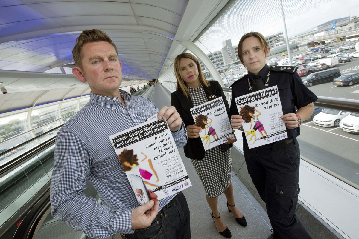 RT @gmpolice: New campaign on FGM supports awareness raising op at @manairport