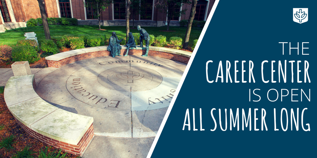 Our offices are open ALL summer! Need help w/ your job search? Want to refresh your resume? Come on by! #DePaul https://t.co/1gmZDjgMC9