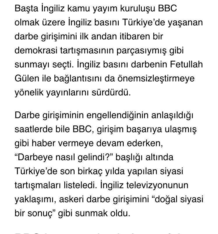 Darbenin başarılı olacağına inandığını gösteren BBC'nin o gece heyecanla Türkiye'ye 7 ekip gönderdiği söyleniyor. https://t.co/QYhJMHccqE