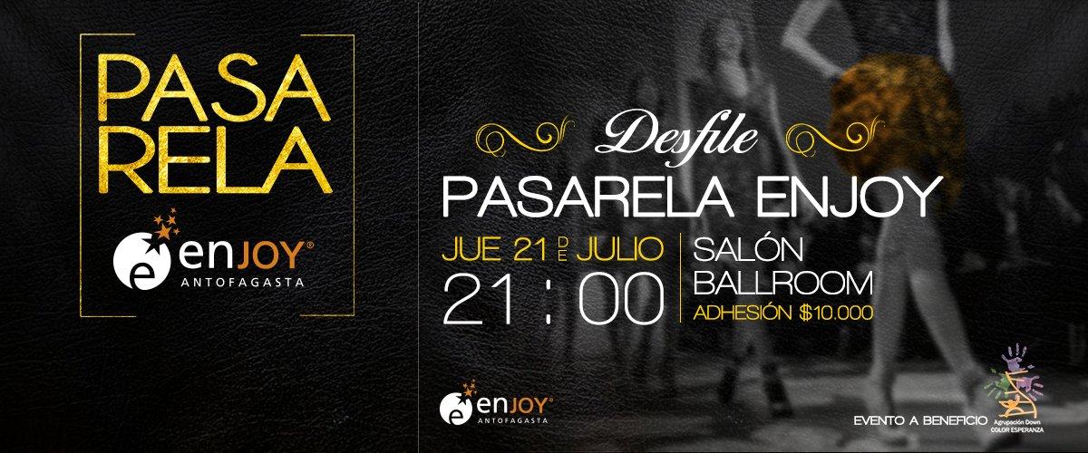 Atención #Antofagasta!! A las 20 horas sortearemos 2 invitaciones para #PasarelaEnjoy Hagan RT para participar https://t.co/JpwA7iLDQ4