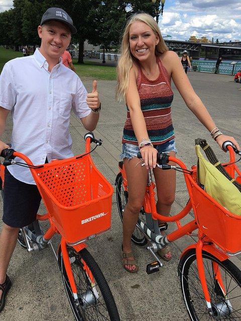 Over 2,300 trips taken on @BIKETOWNpdx bike share in first 24 hours https://t.co/xARDazIjWB https://t.co/0DJYlqUxA0