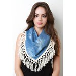 This cute scarf features a chambray fabrication with acid washed stains,tassel trim detail https://t.co/u6SI5iYXb4 https://t.co/IrLUfPQMu8