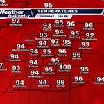 The actual temp has officially reached 100 in Columbus... Others arent far behind. #mswx #alwx https://t.co/lXm5THsJo0