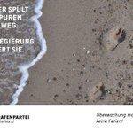 Das Meer spült Deine Spuren wieder weg. Deine Regierung speichert sie. #ueberwachungmachtkeineferien https://t.co/RcKVLCI5AF