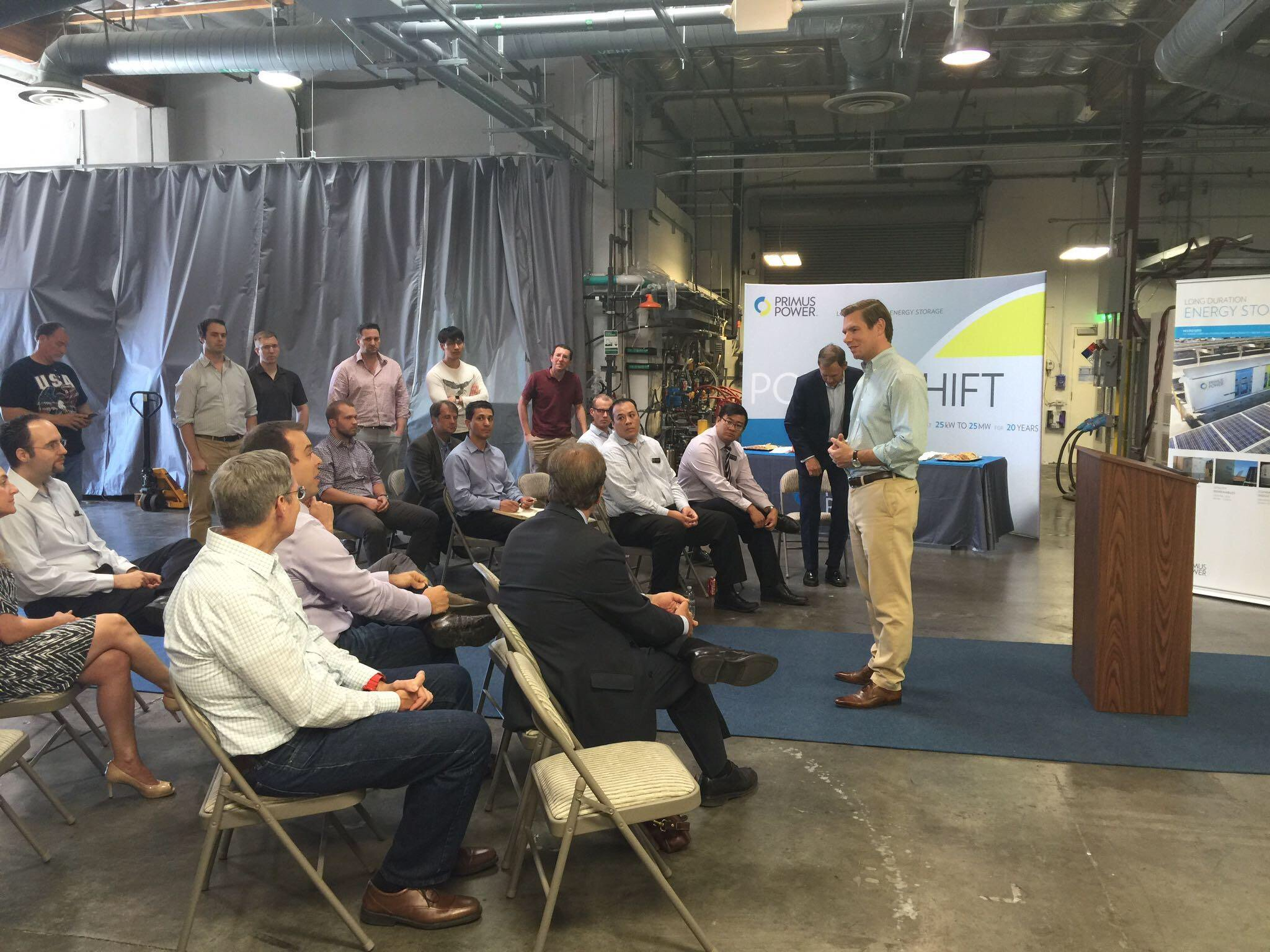 Great visits/town hall yesterday with @Primus_Power, @AlphabetEnergy & Siluria Technologies in Hayward. #CA15proud! https://t.co/LWfSZseiTm
