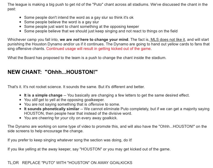 .@TexianArmy reasoning behind the #OhhhHOUSTON chant for opposing goalkicks. #ForeverOrange https://t.co/PEfq986K9f