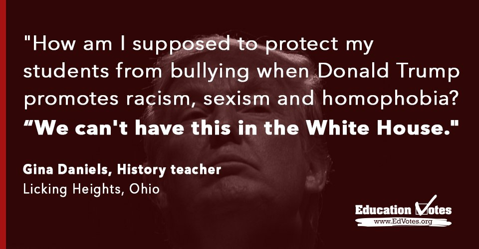 It's official. @realDonaldTrump is GOP nominee. Educators worry because they know students are watching. #RNCinCLE https://t.co/kUOJ3ijAF7