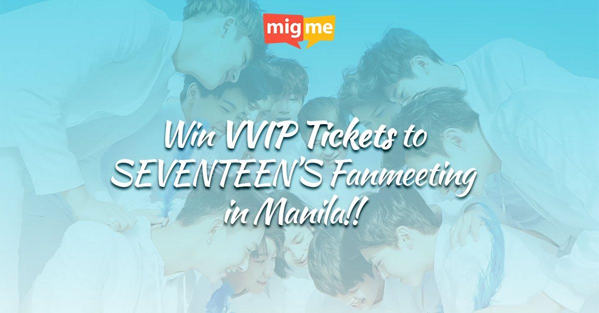 CALLING ALL PH CARATS! Win VVIP TICKETS to Seventeen's Shining Diamonds Live in Manila 2016! https://t.co/CN1JfKhRXl https://t.co/sdFHaYN4Z5