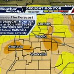 The latest drought monitor released earlier today continues to expand severe drought conditions across North MS/AL. https://t.co/3xwTCKanNT