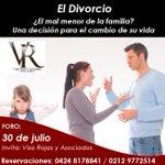 FORO EL #DIVORCIO ¿El mal menor de la familia? Un cambio de vida* 30 de julio* #Caracas @procondominios https://t.co/49NVK9CVXD