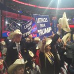 Seems to me like some of these Texas delegates w/ Latinos for Trump signs are not Latino someone is passing them out https://t.co/z8KuCdyqny