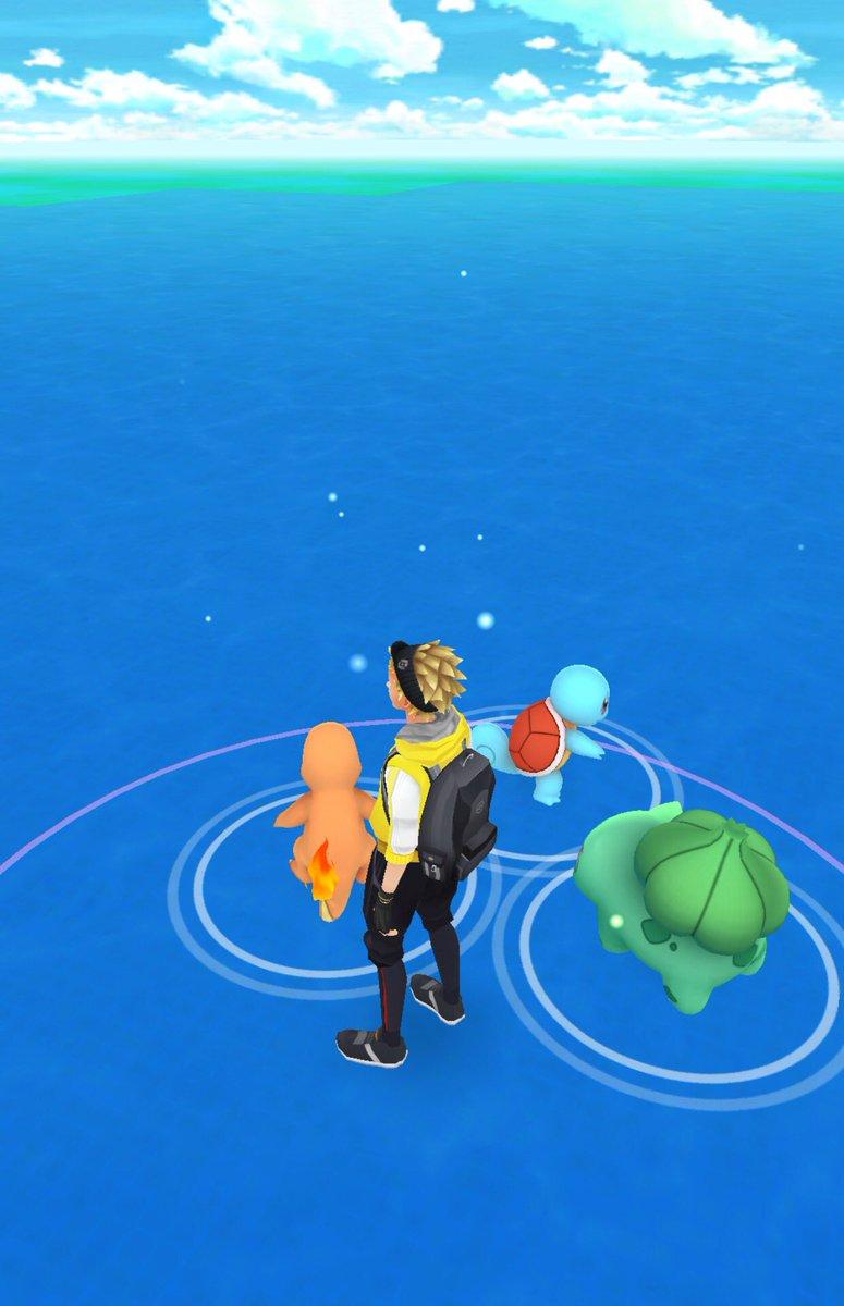 ポケモンGOがはじまったぜ! オレは海のど真ん中からスタートだ! #ポケモンGO https://t.co/nIpPvtmzfC