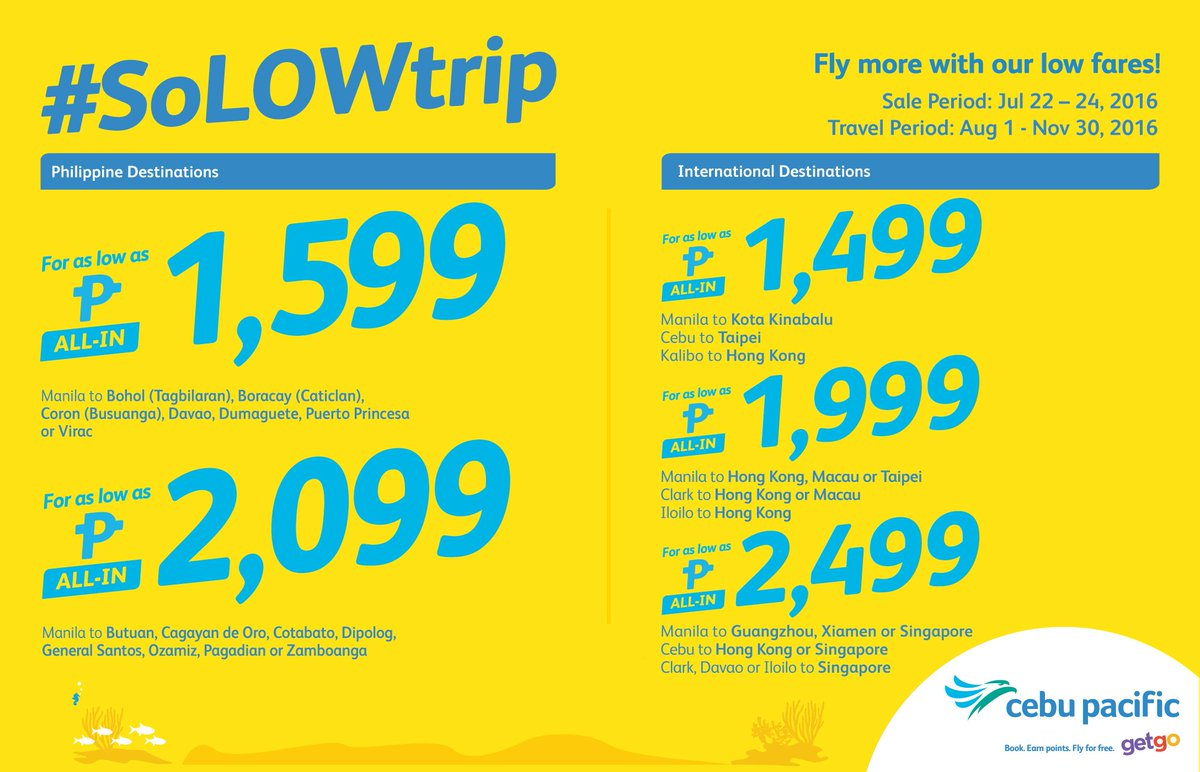 Enjoy a solo trip to these destinations with the new CEBSeatSale! Book now!