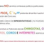 No somos los amigos de ningún partido. Queremos un concurso transparente. Soy de @1960Autores #elCoacNOesPolitica https://t.co/eujhWi4hWj