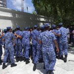 Special prayer as usual w/ SO @PoliceMv harassment & arrest after Friday prayer in the 100℅ Islamic nation #Maldives https://t.co/NNrxCQTXcz