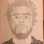 A picture of J. Cole drawn entirely out of his lyrics https://t.co/WJR2Iuoy3B