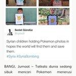 """Cari Pokemon di sini..""  Rayu kanak-kanak Syria😢 https://t.co/BtcA5ZkE71"