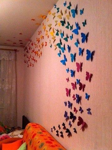 Бабочки для декора потолка своими руками