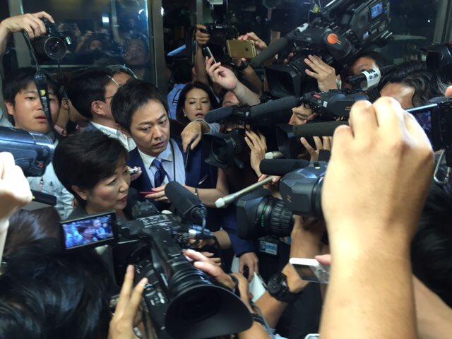 今夜8時参議院選挙の終了とともに、自民党都連への推薦願いを取り下げに党本部へ参りました。14日からの都知事選には推薦なしで出馬いたします。「都議会のドン」やひと握りの幹部による都政運営を改め、都民のための「東京大改革」を進めます。 https://t.co/tnttBcilEw