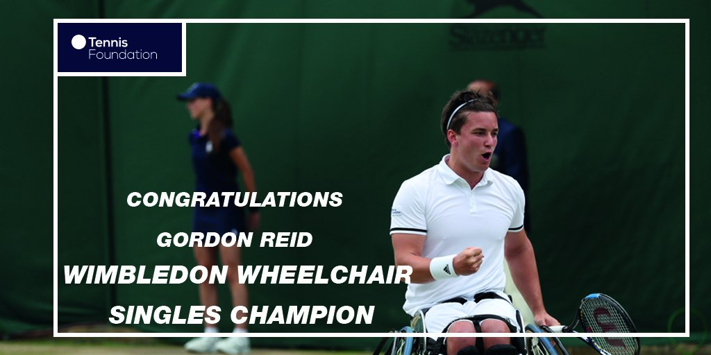 Congratulations @GordonReid91! First ever #Wimbledon Wheelchair Singles champion #WimbledonFinals #BackTheBrits https://t.co/c4f6VCWGnD