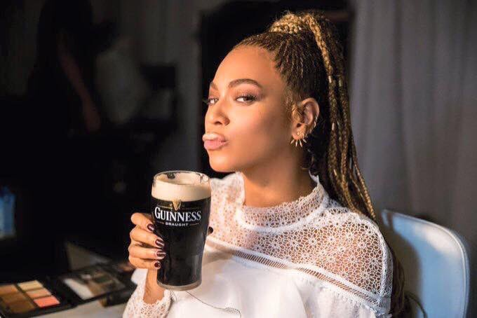 This photo of Queen Bey and her @GuinnessIreland before yesterday's concert though