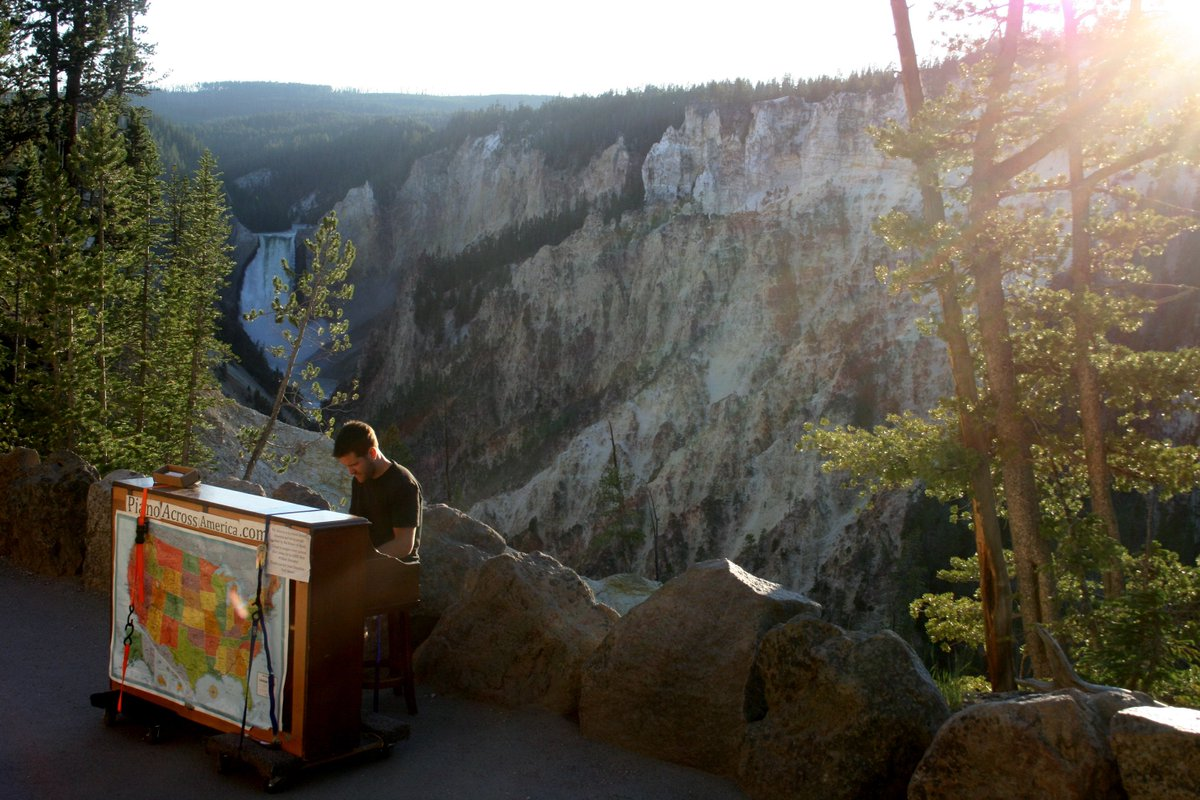 Yellowstone National Park, a wonderful place to play piano… https://t.co/c1JkDY1jKZ