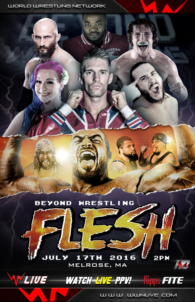 BREAKING: Beyond Wrestling debuts on live iPPV for #Flesh next Sunday at 2:30pm! https://t.co/zZGQ3RyPl9 @BookItGabe https://t.co/RoyBi1UwFH