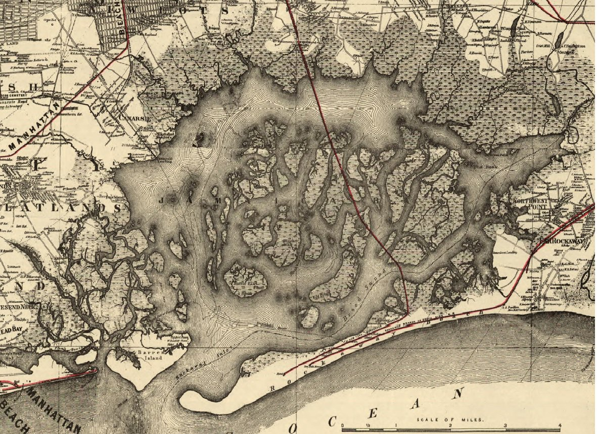 Check out this map of the Bay in the 1880s before marshes were filled in to build #JFK airport, highways and housing https://t.co/MFaDPfziI5