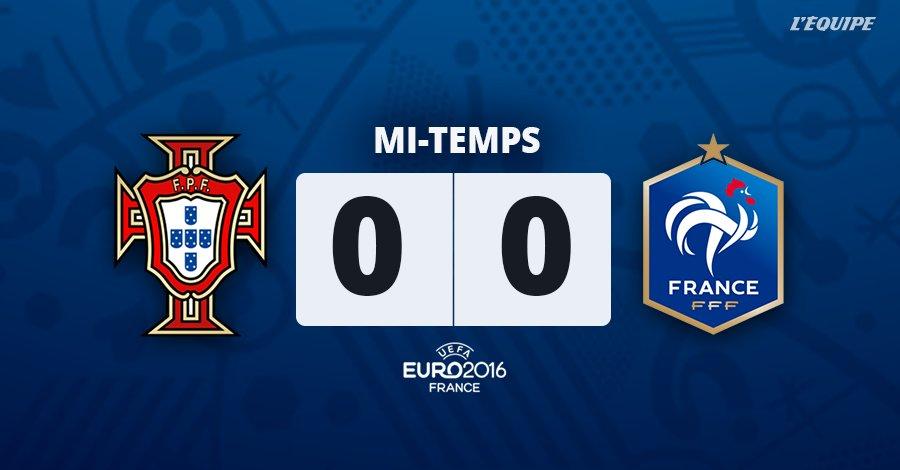 C'est la MT au Stade de France ! 0-0 entre les deux formations pour le moment.  #EURO2016 https://t.co/fQUSu0myEk