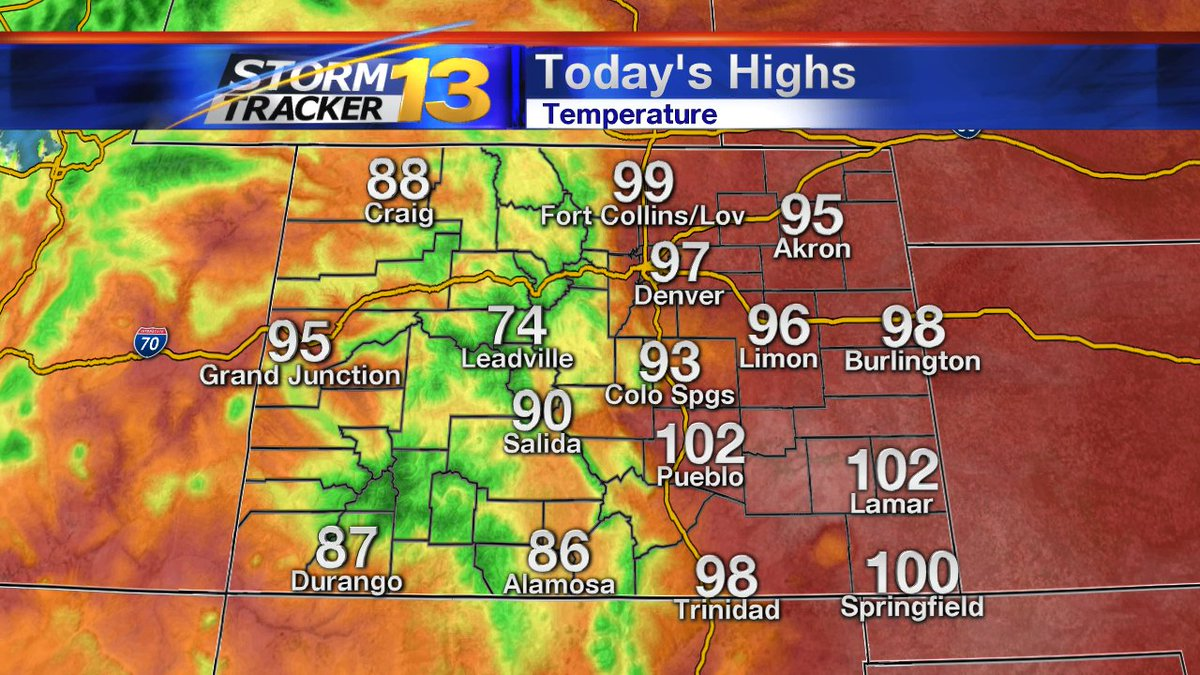 Highest Temps As Of 3 P M Stay Hydrated Stay Cool Windy In
