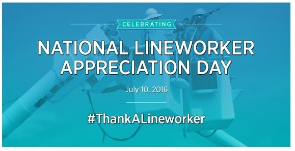 Today & every day we thank lineworkers who put their lives on the line to serve their communities. #ThankALineworker https://t.co/yB9zDu7O9G