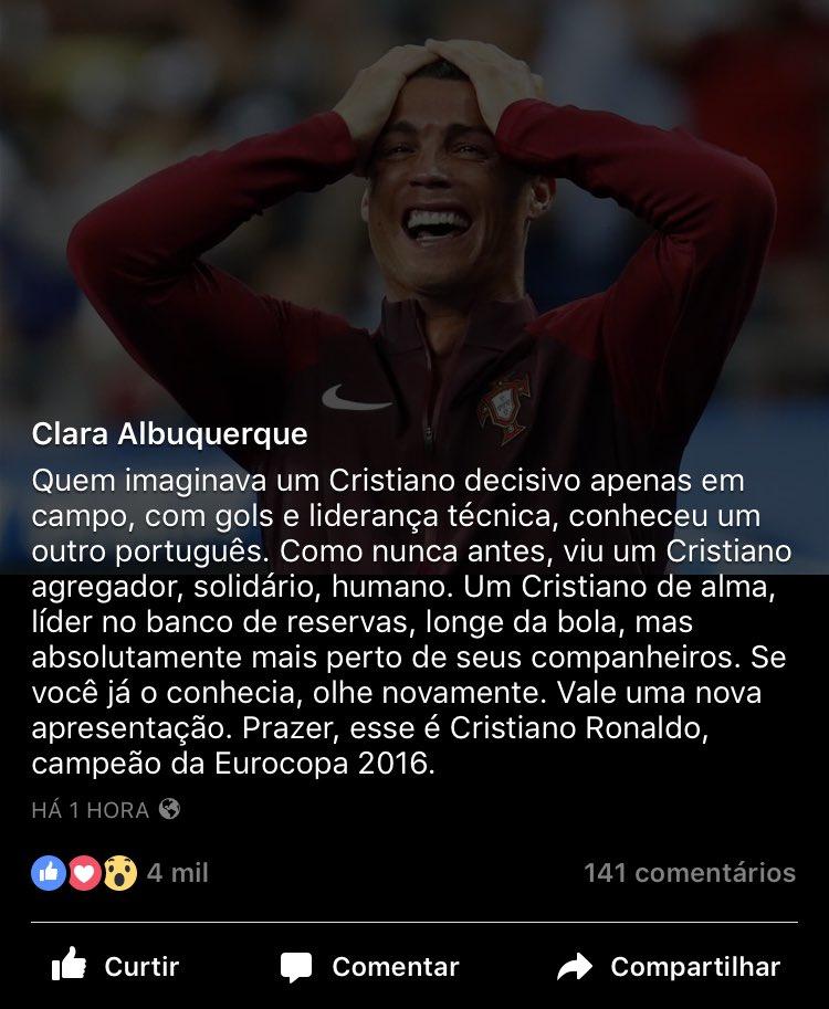 Prazer, Cristiano Ronaldo campeão da Eurocopa 2016: https://t.co/M4qxh8a0pL https://t.co/FHVGfzBuET