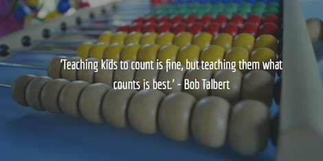 'Teaching kids to count is fine, but teaching them what counts is best.' - Bob Talbert https://t.co/D3NBggfiZp
