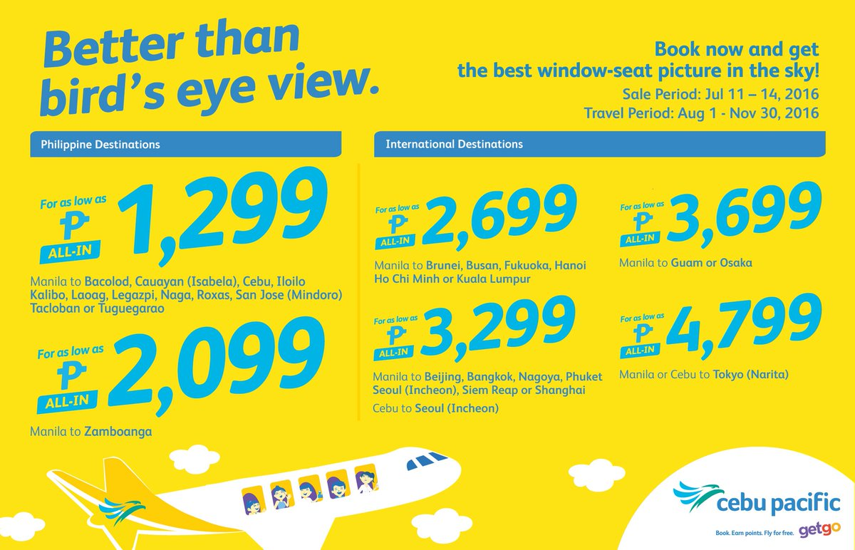 The best window-seat picture can be yours with the new CEBSeatSale! Book now!