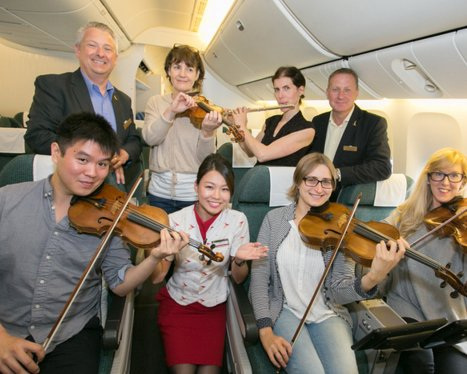 Cathay Pacific fly out the Halle Orchestra to start thier tour of China!